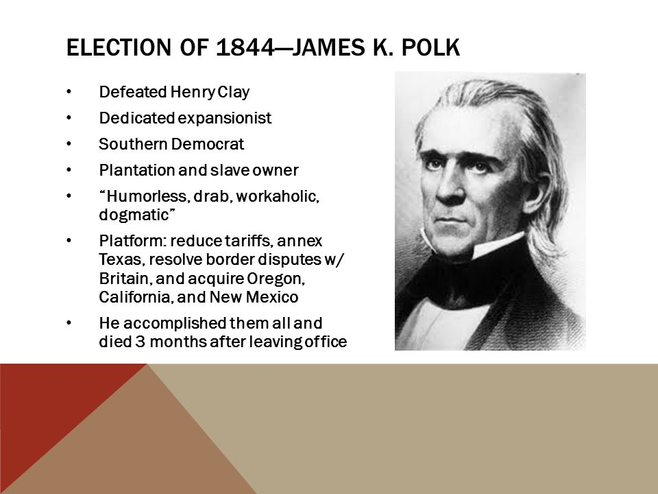 Election of 1844—James K. Polk