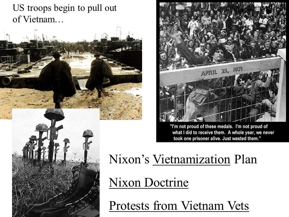 Nixon's Vietnamization Plan Nixon Doctrine Protests from Vietnam Vets
