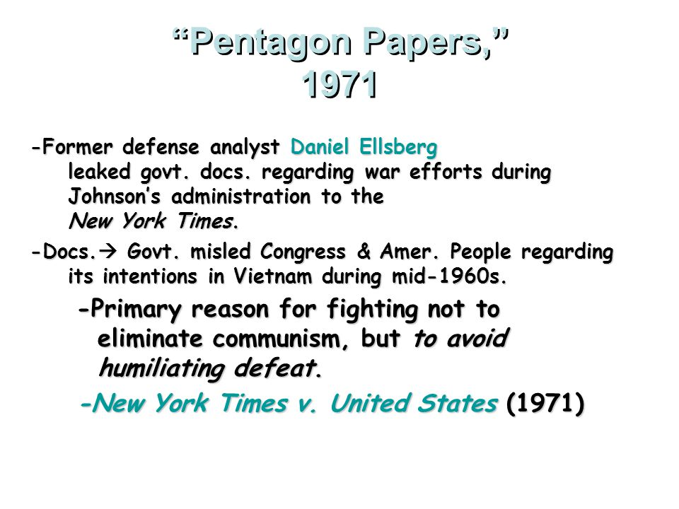 Pentagon Papers, 1971