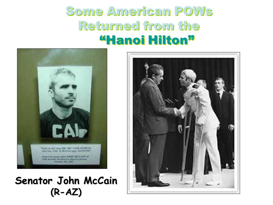Some American POWs Returned from the Hanoi Hilton