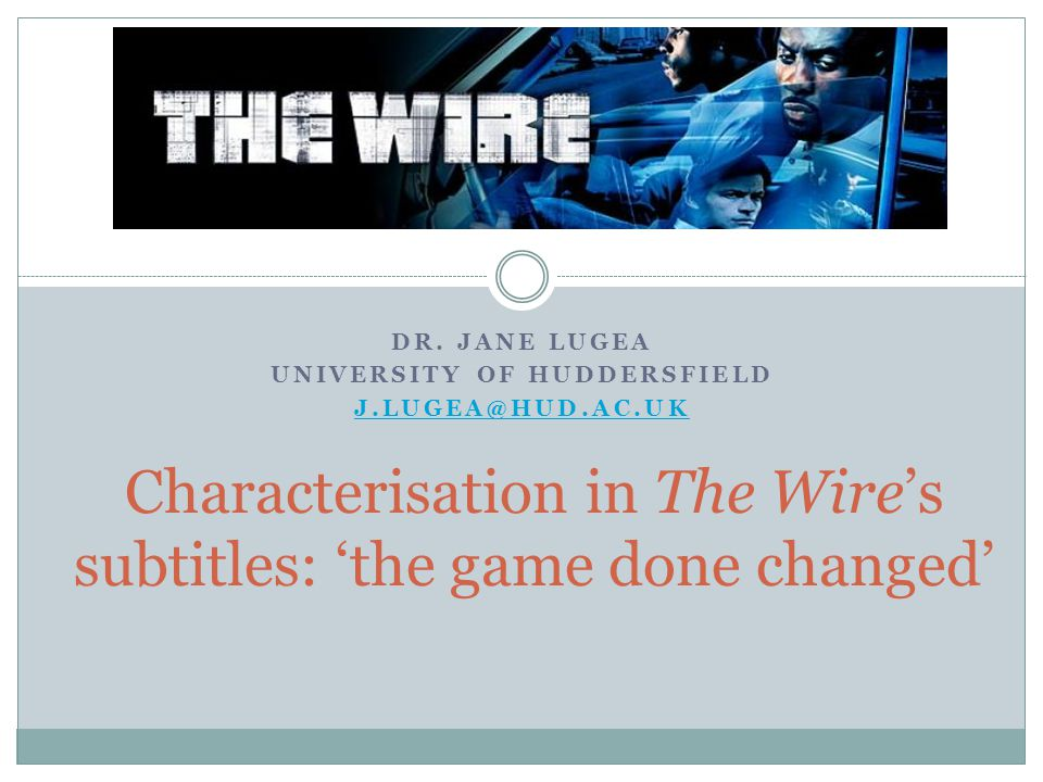 Characterisation in The Wire's subtitles: 'the game done changed'