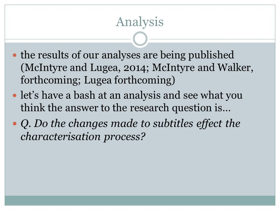 Analysis the results of our analyses are being published (McIntyre and Lugea, 2014; McIntyre and Walker, forthcoming; Lugea forthcoming)
