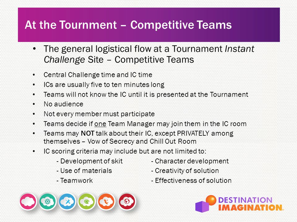 At the Tournment – Competitive Teams