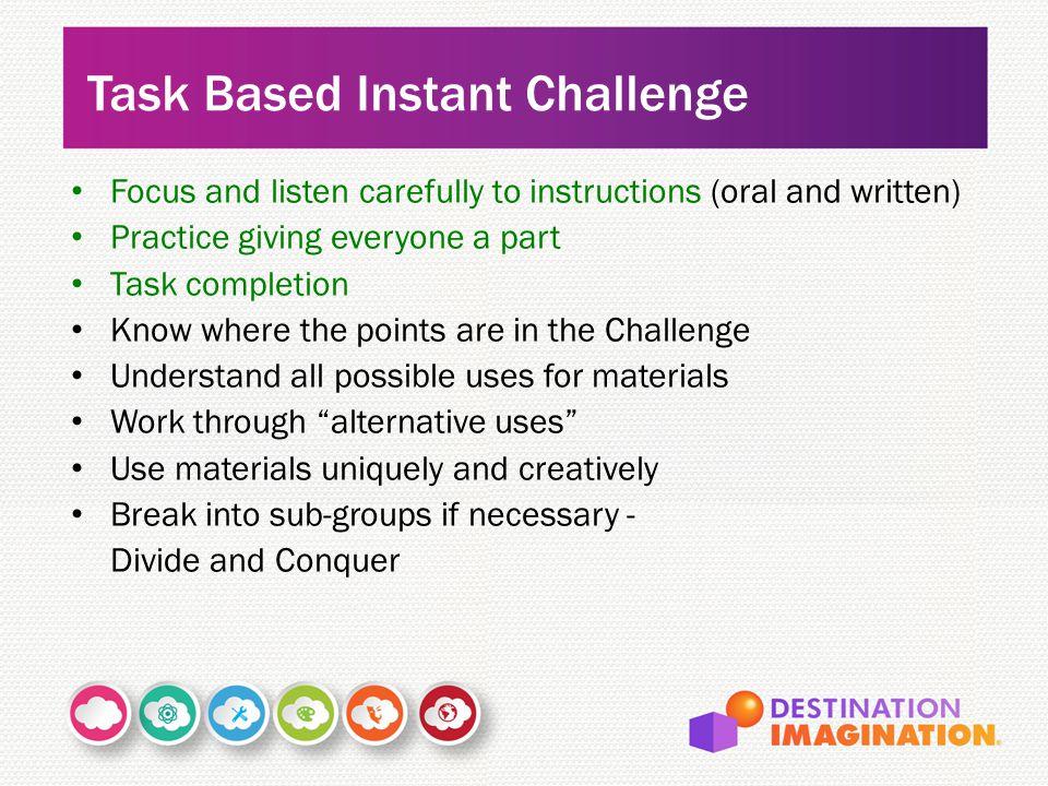 Task Based Instant Challenge