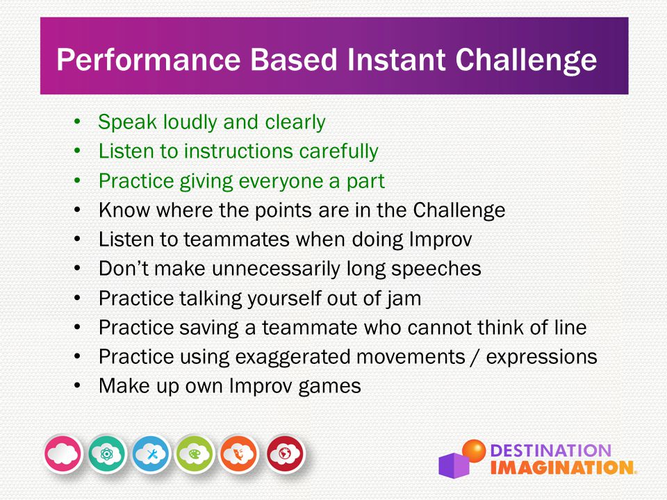 Performance Based Instant Challenge