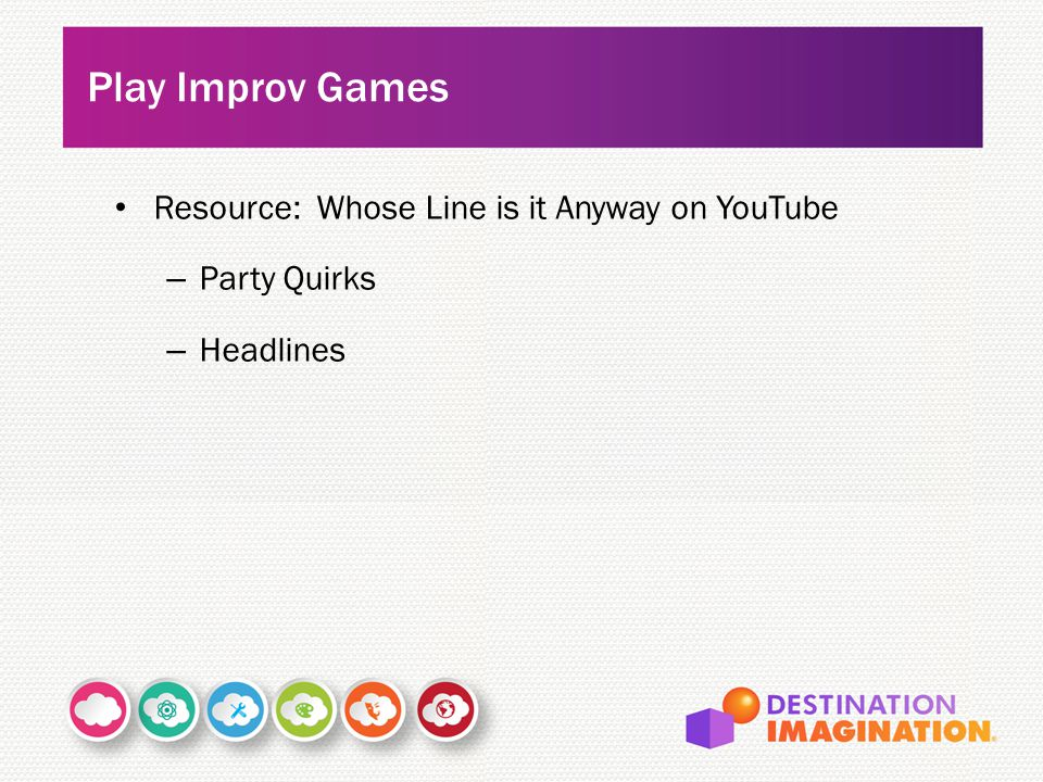 Play Improv Games Resource: Whose Line is it Anyway on YouTube
