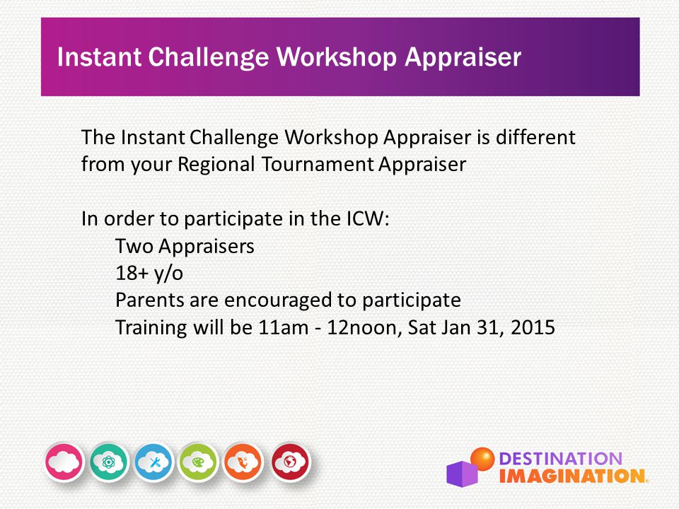 Instant Challenge Workshop Appraiser