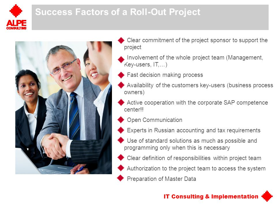 Success Factors of a Roll-Out Project