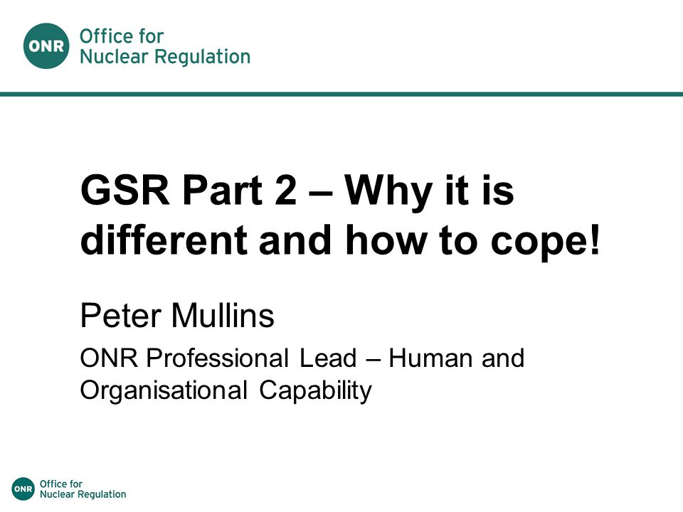 GSR Part 2 – Why it is different and how to cope!
