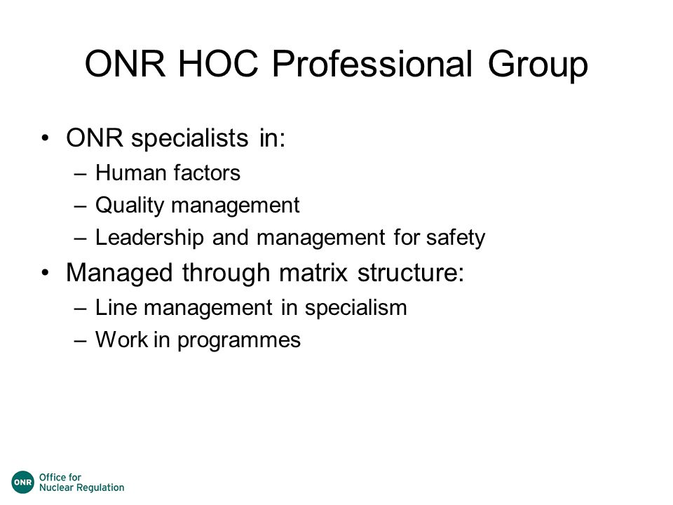 ONR HOC Professional Group