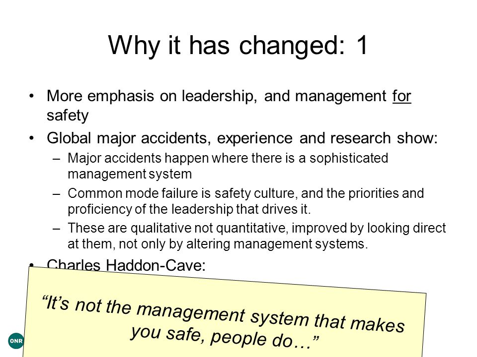 It's not the management system that makes