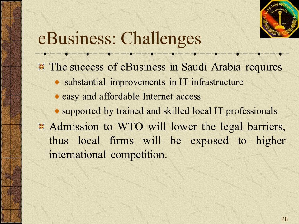 eBusiness: Challenges