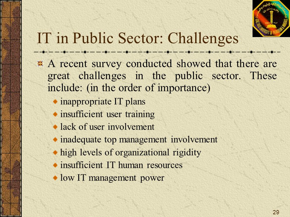 IT in Public Sector: Challenges