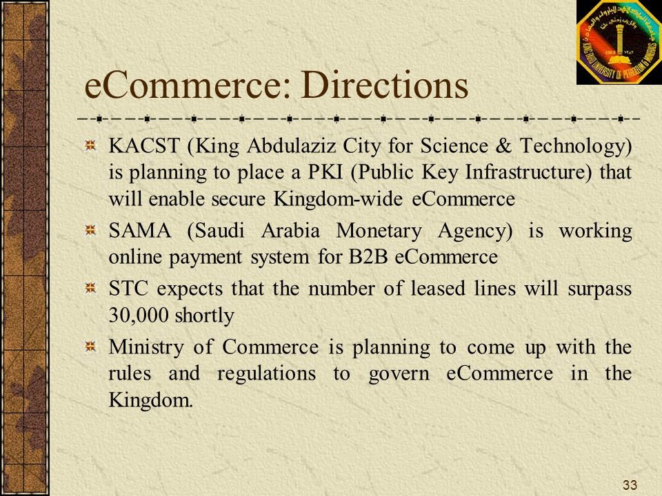eCommerce: Directions