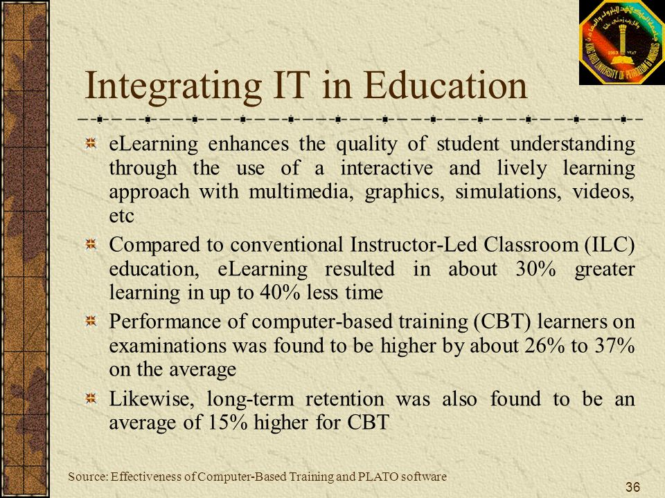 Integrating IT in Education