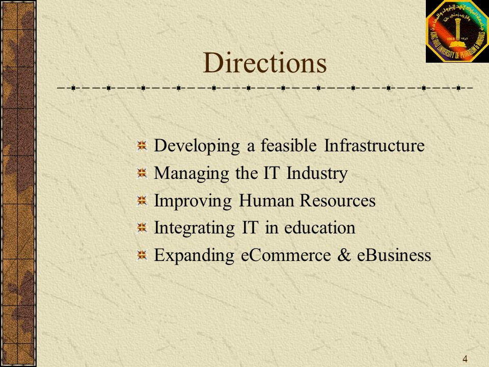 Directions Developing a feasible Infrastructure