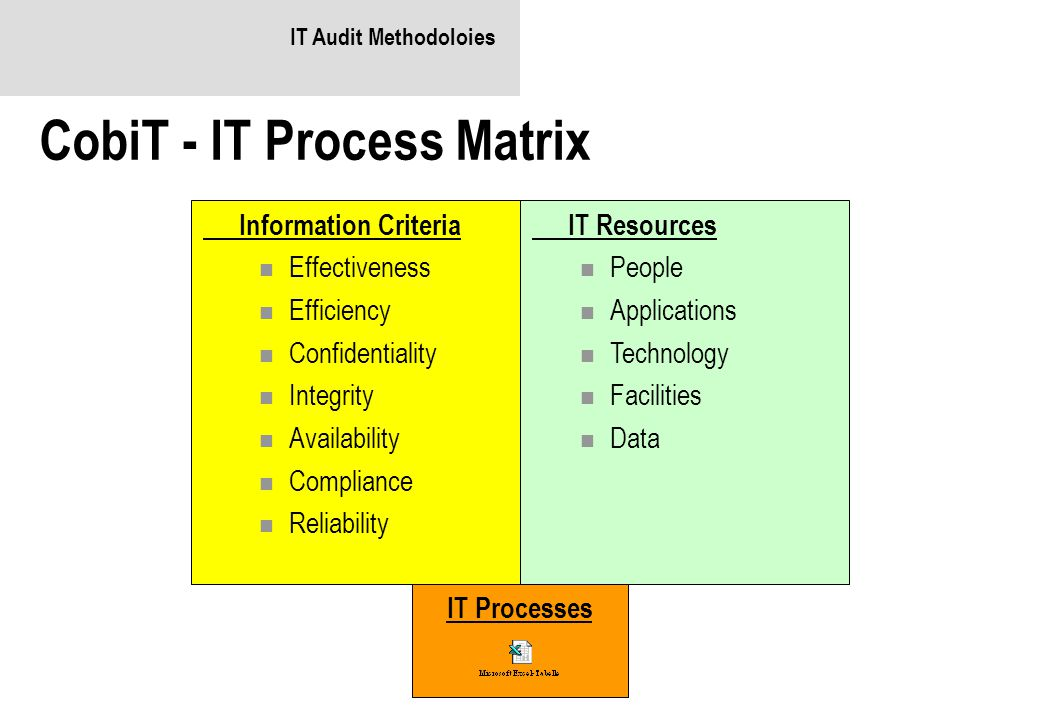 CobiT - IT Process Matrix
