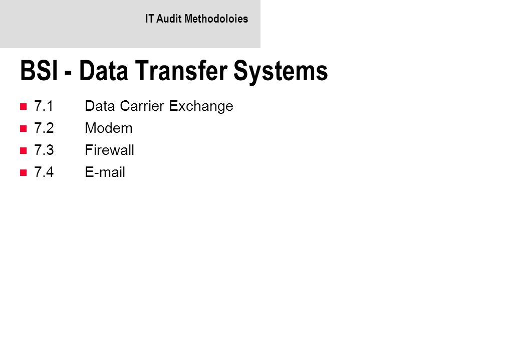 BSI - Data Transfer Systems
