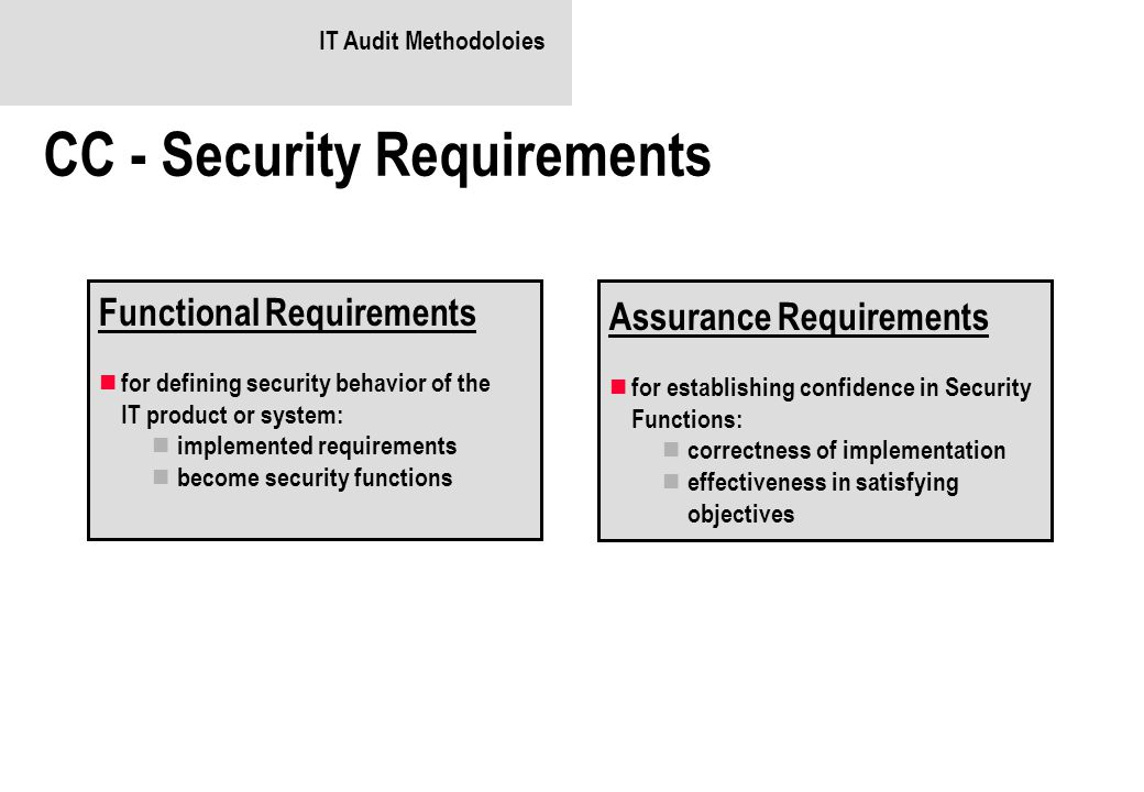 CC - Security Requirements