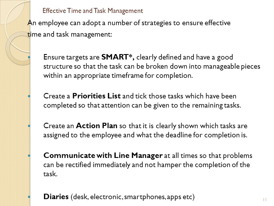 Effective Time and Task Management