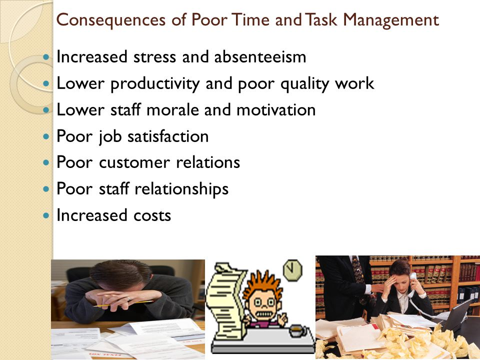Consequences of Poor Time and Task Management