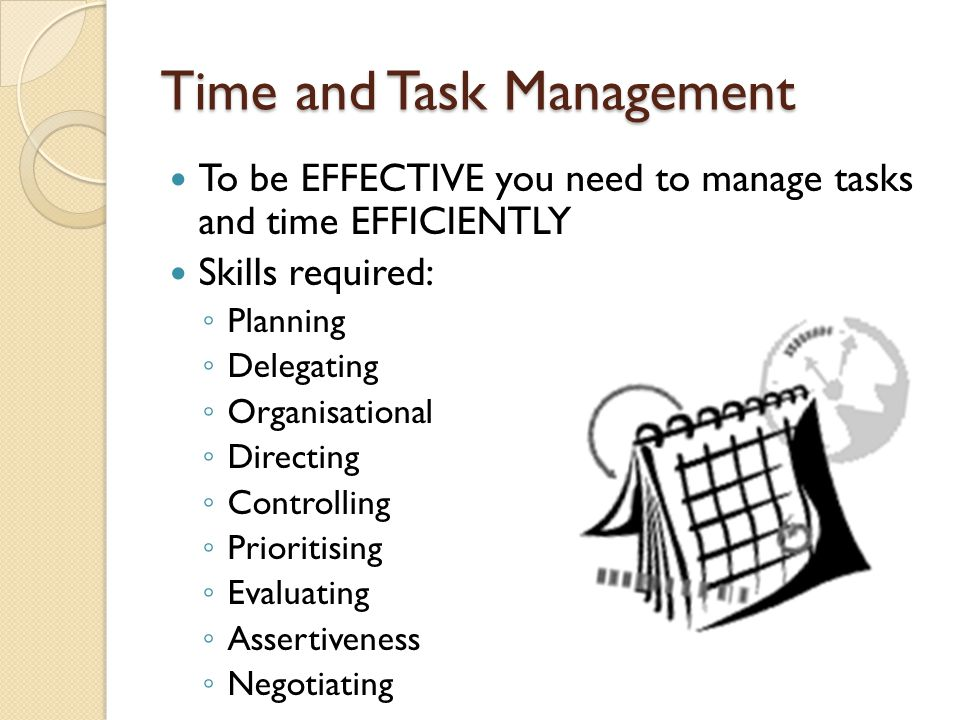 Time and Task Management