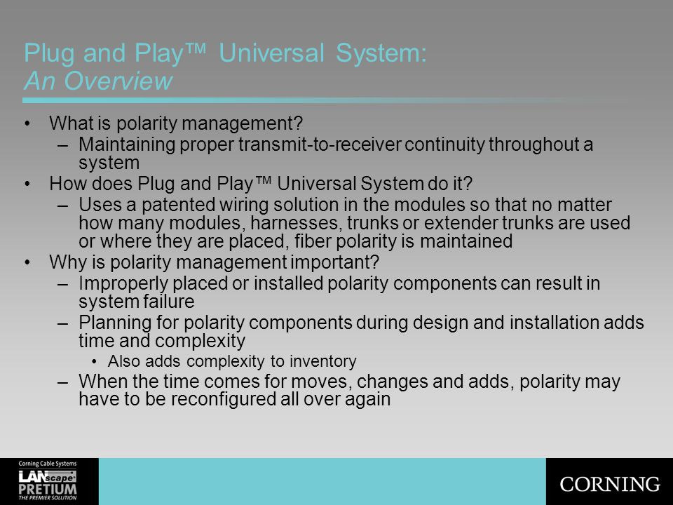 Plug and Play™ Universal System: An Overview