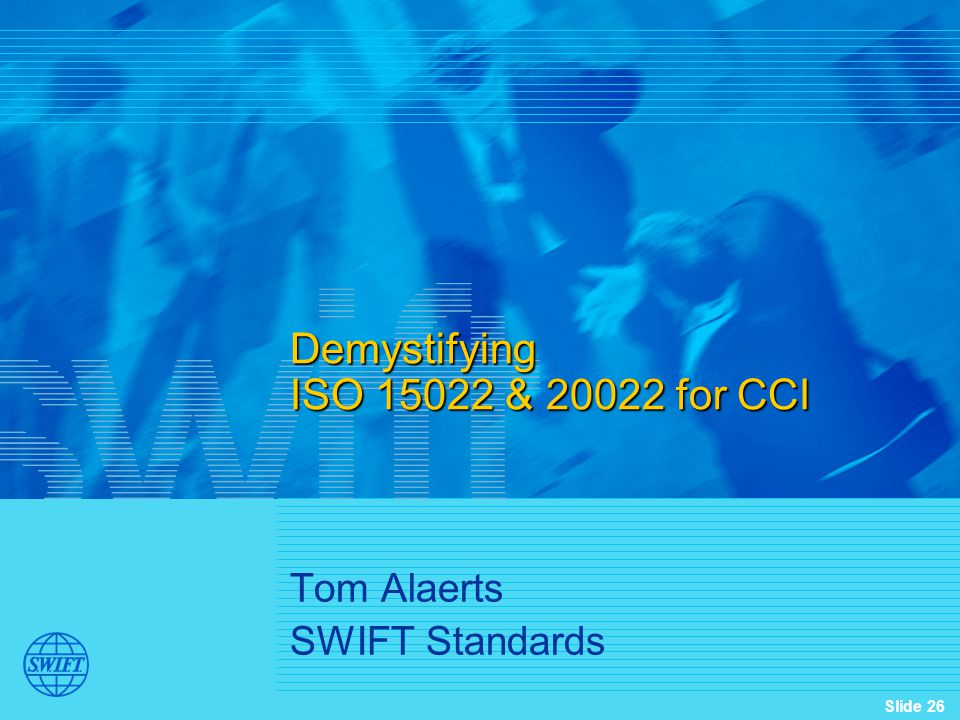 Demystifying ISO 15022 & 20022 for CCI