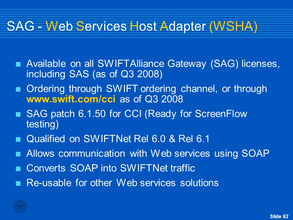 SAG - Web Services Host Adapter (WSHA)