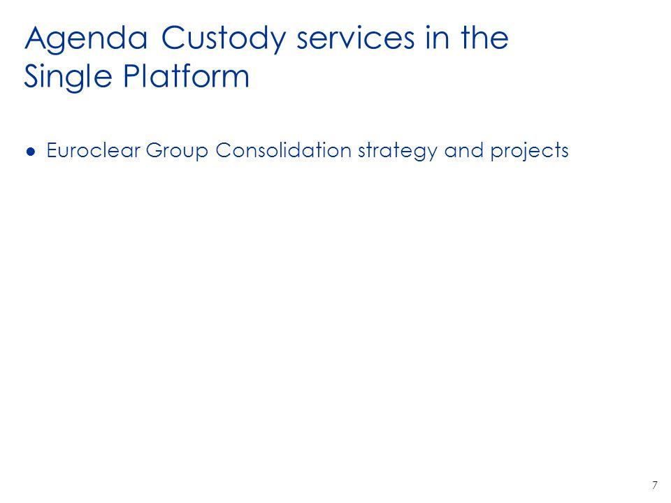 Agenda Custody services in the Single Platform