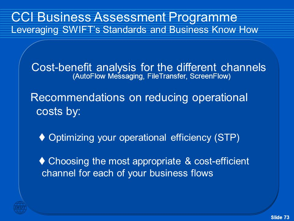 Recommendations on reducing operational costs by:
