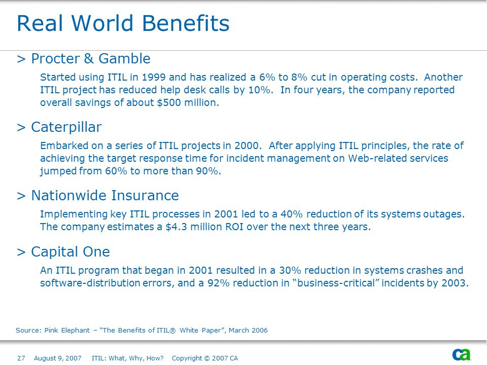 Real World Benefits Procter & Gamble Caterpillar Nationwide Insurance
