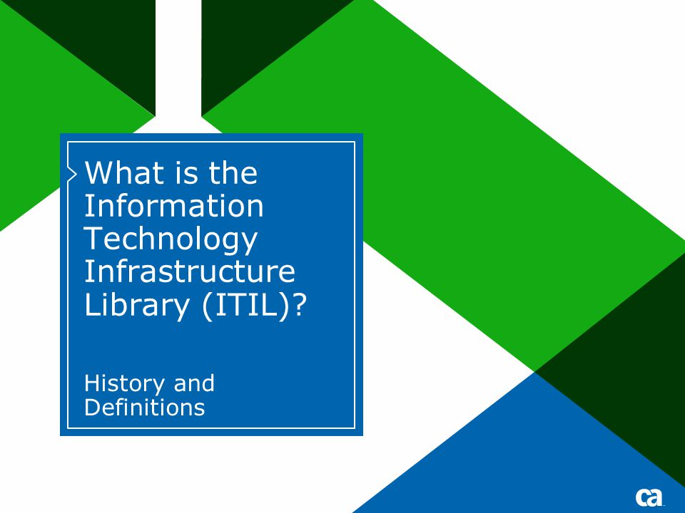 What is the Information Technology Infrastructure Library (ITIL)
