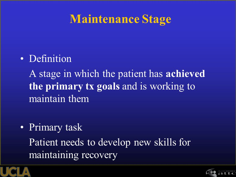 Maintenance Stage Definition