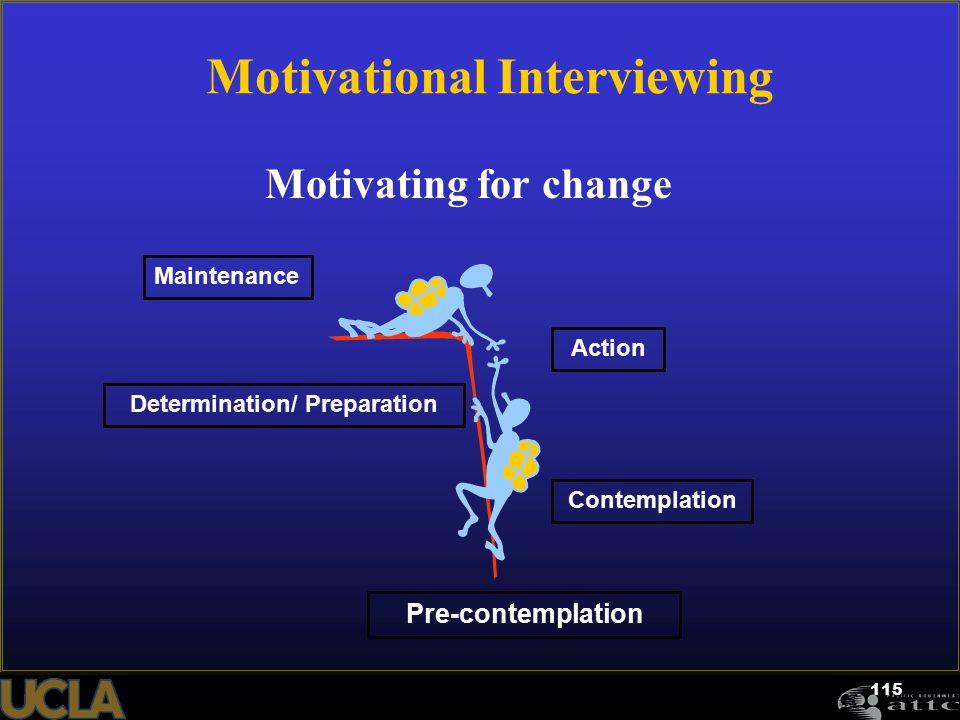 Motivational Interviewing Determination/ Preparation