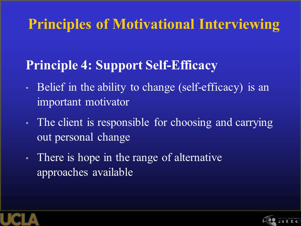 Principles of Motivational Interviewing