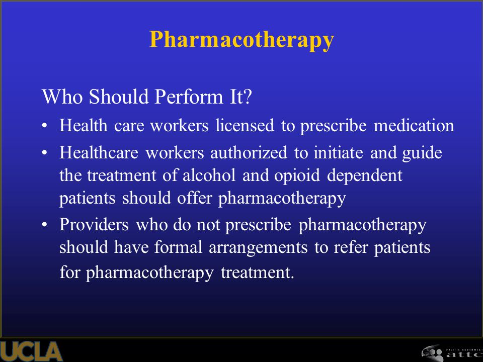 Pharmacotherapy Who Should Perform It