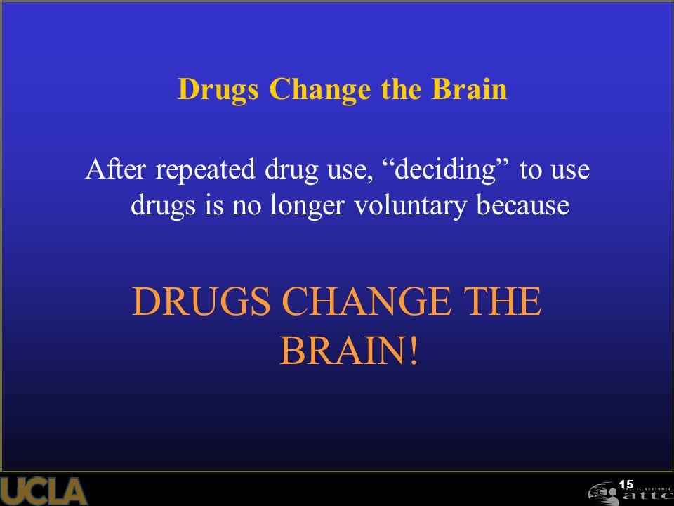 DRUGS CHANGE THE BRAIN! Drugs Change the Brain