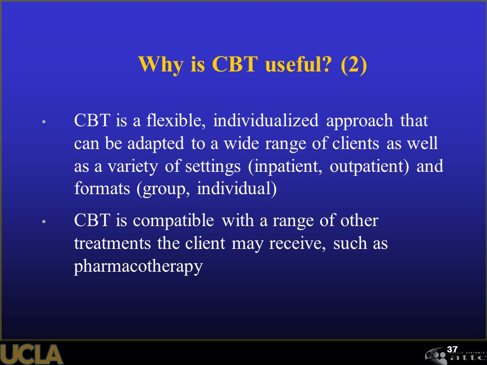 Why is CBT useful (2)