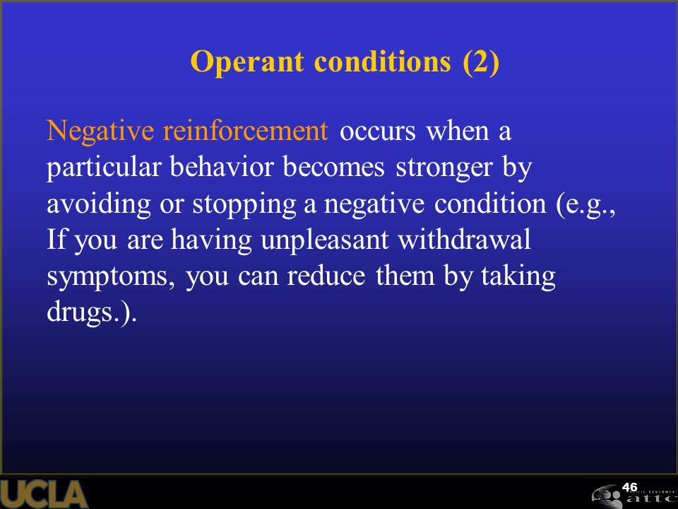 Operant conditions (2)