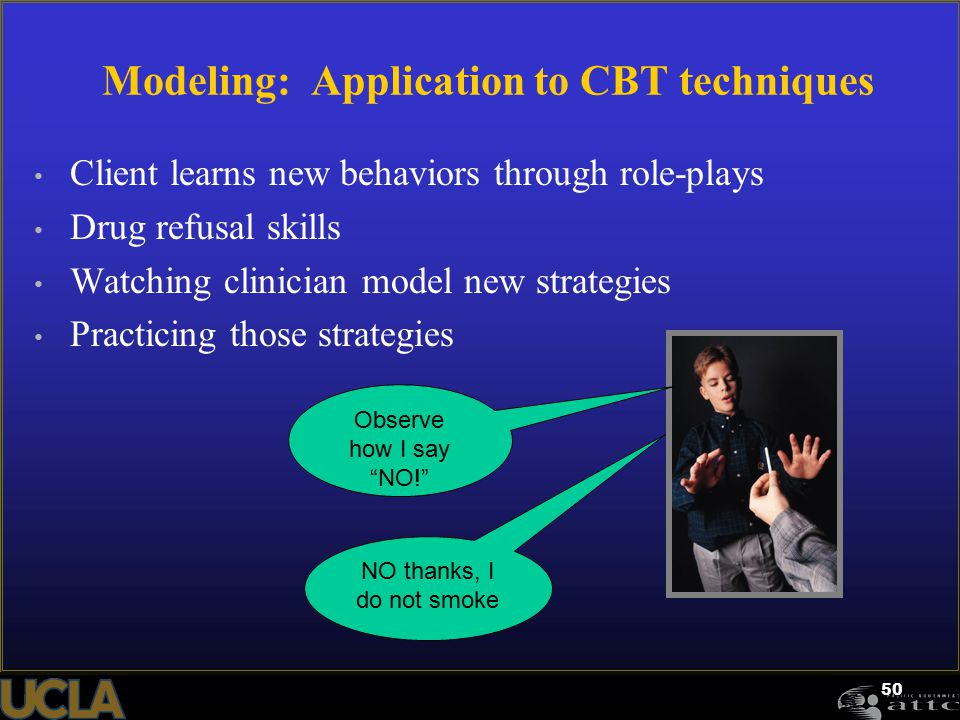 Modeling: Application to CBT techniques