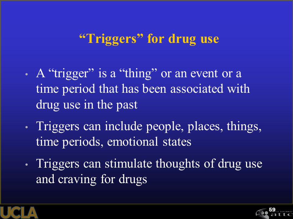 Triggers for drug use