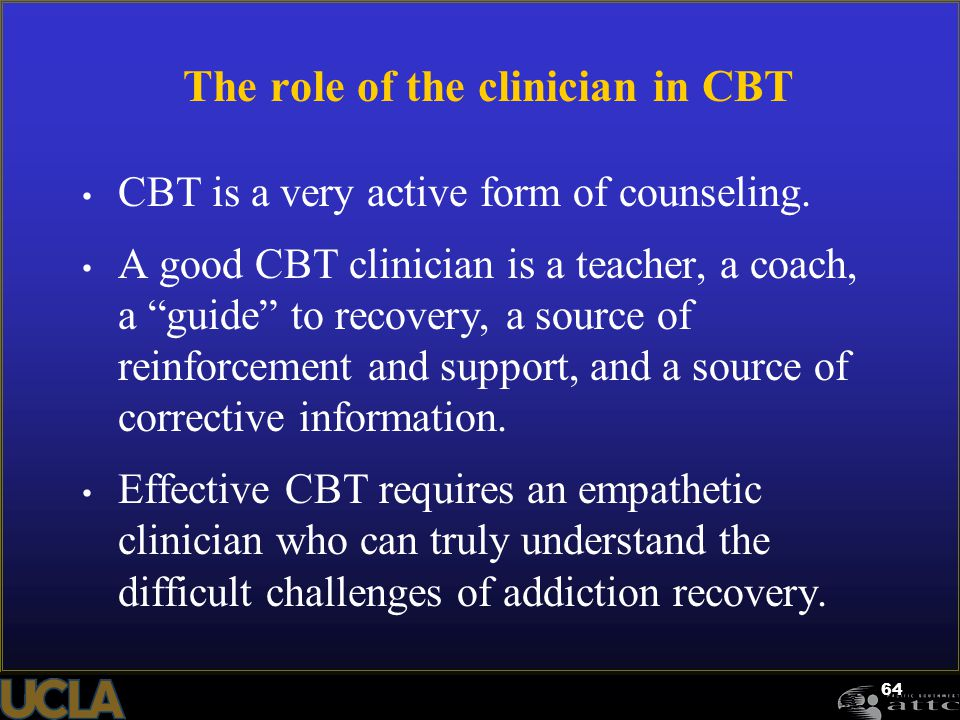 The role of the clinician in CBT