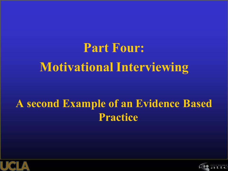 Part Four: Motivational Interviewing