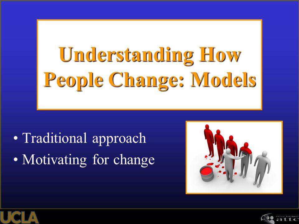 Understanding How People Change: Models