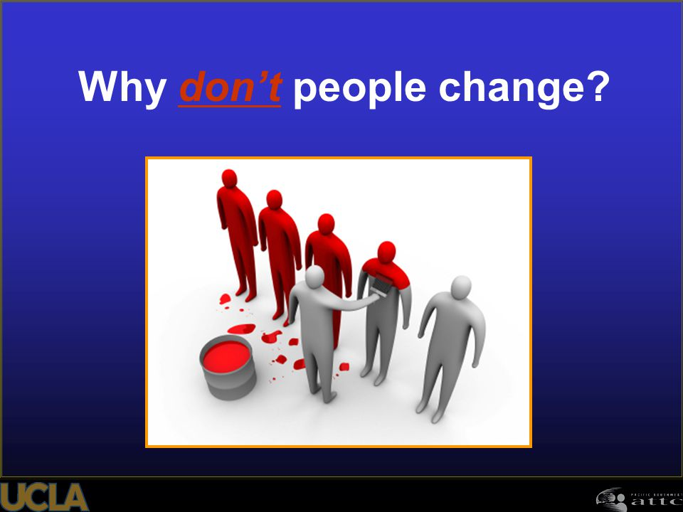 Why don't people change