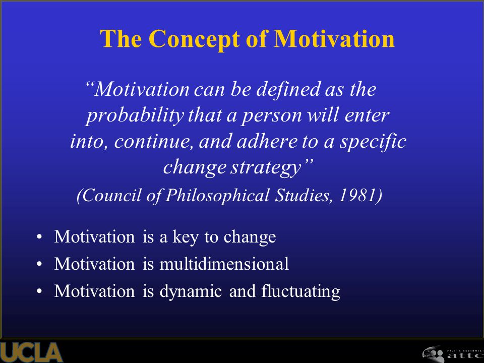 The Concept of Motivation