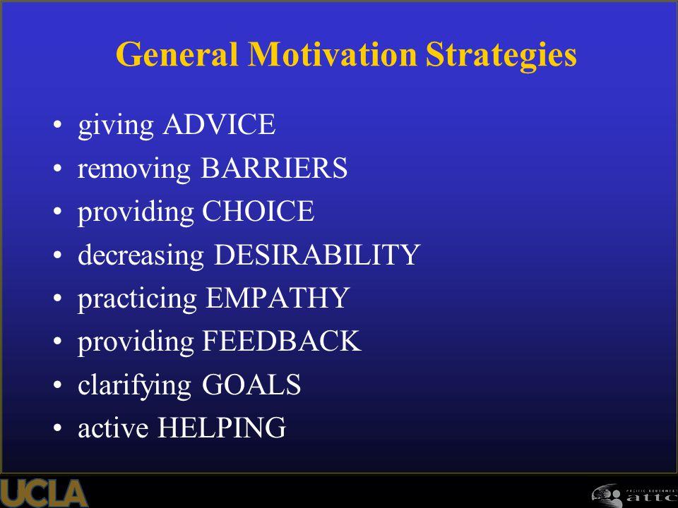 General Motivation Strategies