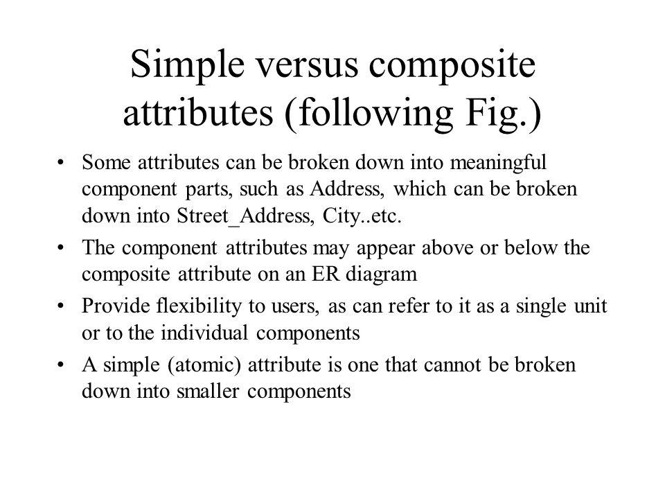 Simple versus composite attributes (following Fig.)