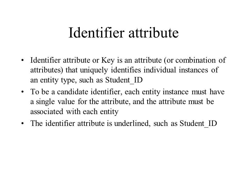 Identifier attribute